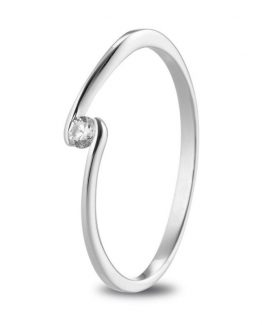 Anillo de pedida con diamante Line