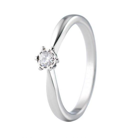 Solitario Corona 6 garras con diamante
